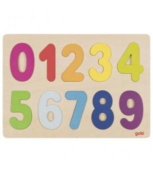 Puzzle lemn Goki numere - Jucării de lemn si Montessori