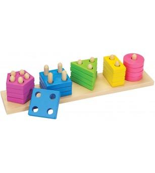Joc de sortare din lemn Goki - Jucării de lemn si Montessori