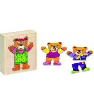 Joc Goki Imbraca ursuletii - Jucării de lemn si Montessori