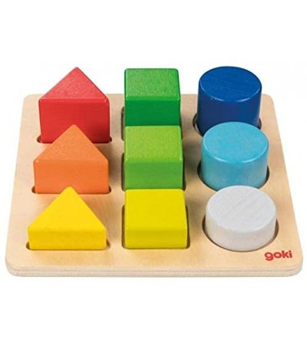 Puzzle sortator Goki Figuri geometrice - Jucării de lemn si Montessori