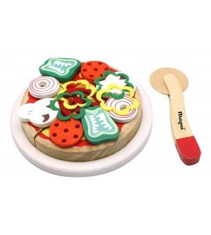 Pizza din lemn Magni Toys - Jucării de lemn si Montessori