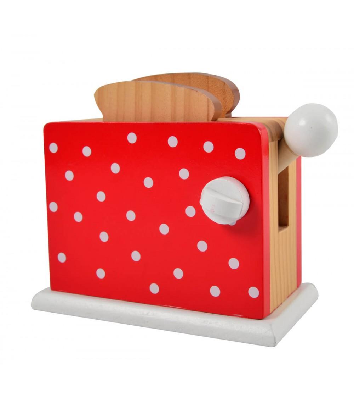 Toaster din lemn rosu Magni Toys - Jucării de lemn si Montessori