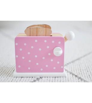 Toaster din lemn roz Magni Toys - Jucării de lemn si Montessori