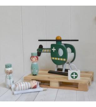 Echipa de salvare cu elicopter, Magni Toys - Truse de medic pentru copii