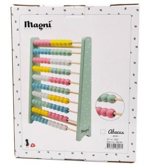 Abac din lemn culoare pastel, Magni Toys - Jucării matematică
