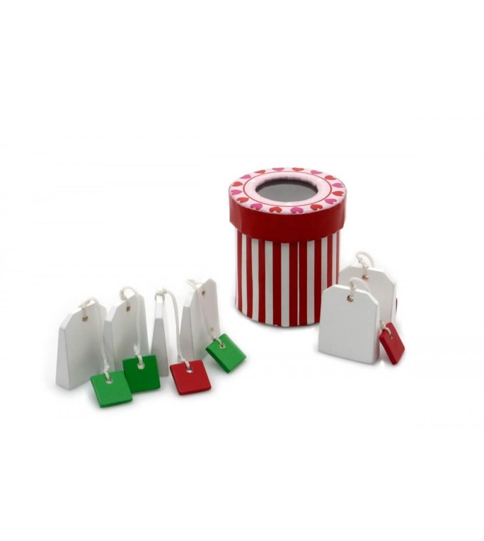 Plicuri de ceai din lemn Magni Toys - Jucării de lemn si Montessori