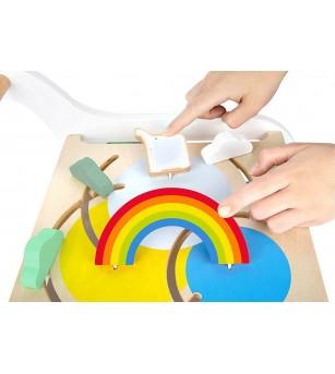Premergator cu activitati Legler Small Foot, Elefant - Jucării de lemn si Montessori