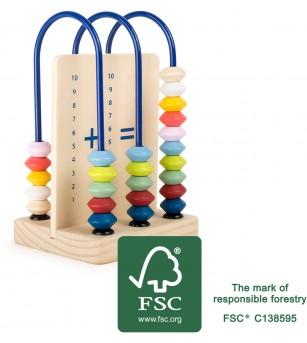 Numaratoare din lemn, Legler Small Foot - Jucării matematică