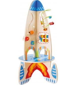 Jucarie motricitate Legler Small Foot, Racheta - Jucării de lemn si Montessori