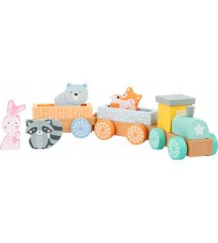 Tren din lemn Legler Small Foot - Vehicule de jucărie