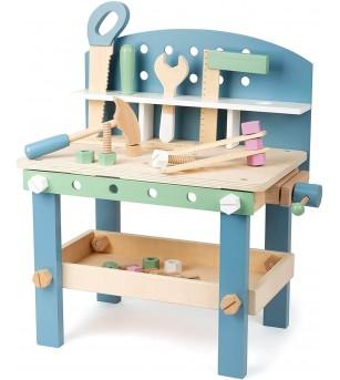 Banc de lucru din lemn Legler Small Foot, Nordic - Jucării de lemn si Montessori