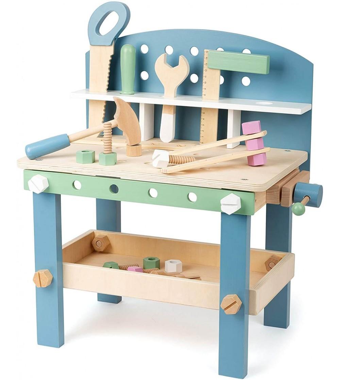 Banc de lucru din lemn, Legler Small Foot - Jucării de lemn si Montessori