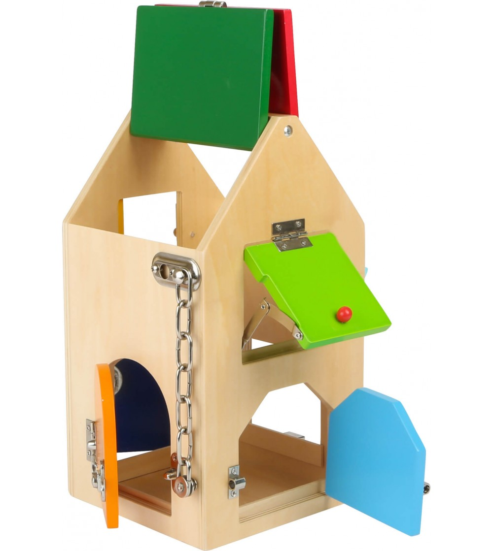 Casa din lemn cu incuietori Small Foot