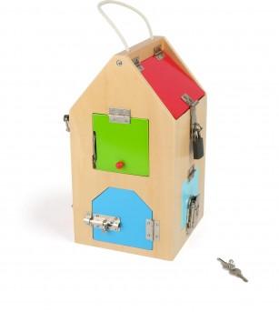 Casa din lemn cu incuietori, Legler Small Foot - Jucării de lemn si Montessori