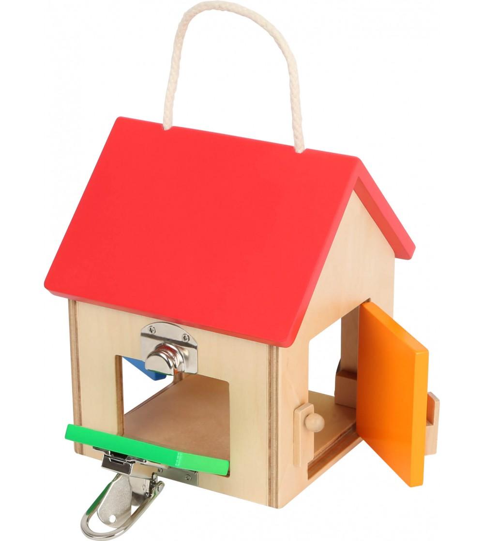 Casa mica din lemn cu incuietori, Legler Small Foot - Jucării de lemn si Montessori