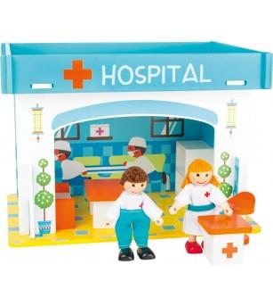 Set de joaca Legler Small Foot, Spital - Jucării de lemn si Montessori