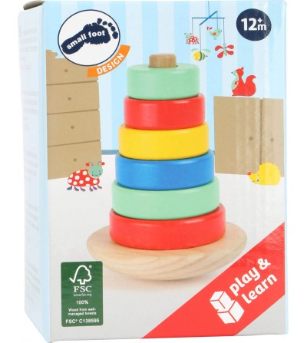 Turn de stivuit, Legler Small Foot - Jucării de lemn si Montessori