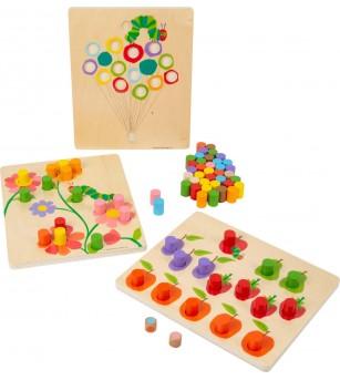 Joc de sortare Legler Small Foot, Omida mancacioasa - Jucării de lemn si Montessori