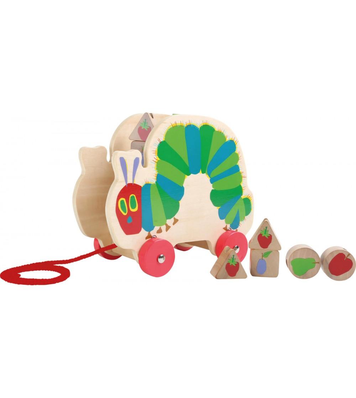 Jucarie de tras Legler Small Foot, Omida mancacioasa - Jucării de lemn si Montessori