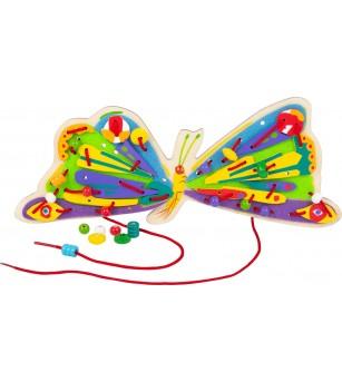 Joc de snuruit Legler Small Foot, Omida mancacioasa - Jucării de lemn si Montessori