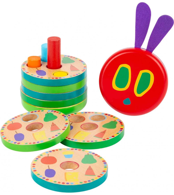 Joc de indemanare Small Foot Omida mancacioasa - Jucării de lemn si Montessori