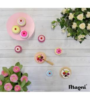 Mini torturi din lemn Magni Toys - Jucării de lemn si Montessori