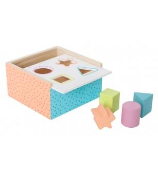Cub de sortat din lemn, JaBaDaBaDo - Jucării de lemn si Montessori