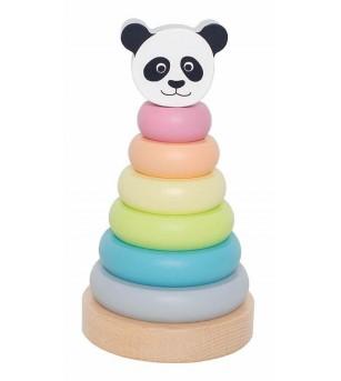 Turn de stivuit JaBaDaBaDo Panda - Jucării de lemn si Montessori