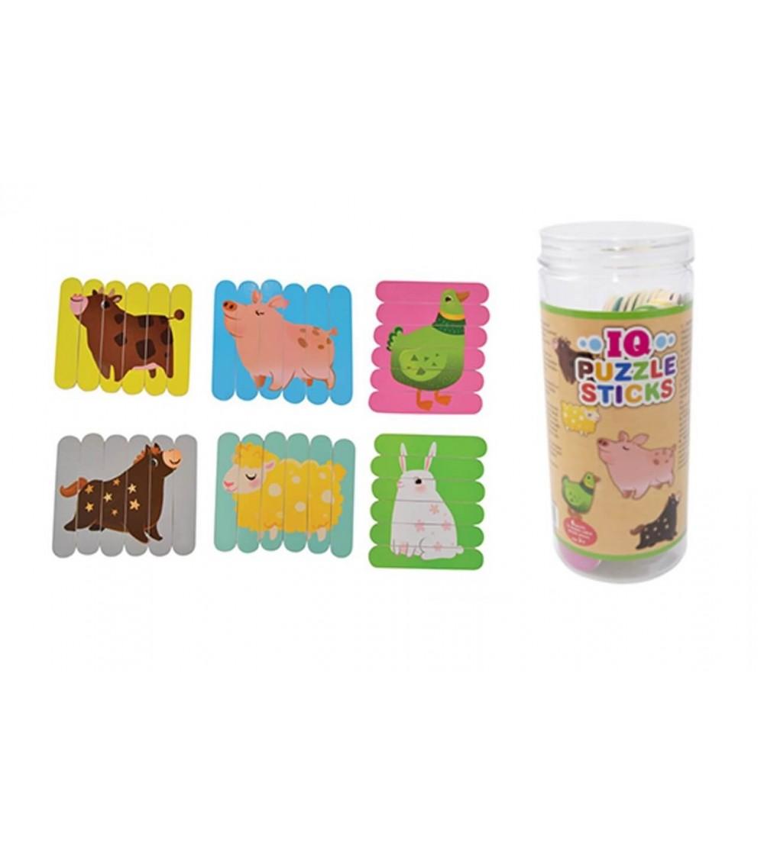 Puzzle bete Magni Toys, animale - Jucării de lemn si Montessori
