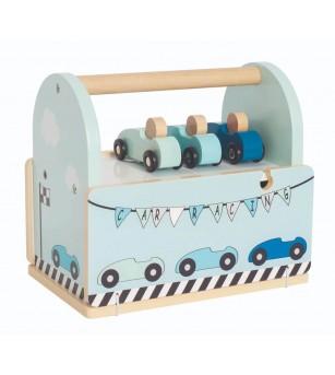 Pista de masini din lemn, JaBaDaBaDo - Vehicule de jucărie