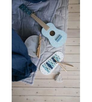 Chitara din lemn JaBaDaBaDo, albastra - Instrumente muzicale