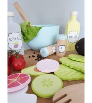 Set salata din lemn, JaBaDaBaDo - Bucătărie copii