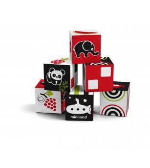 Set 6 cuburi educationale pentru bebelusi - Jucării bebeluși
