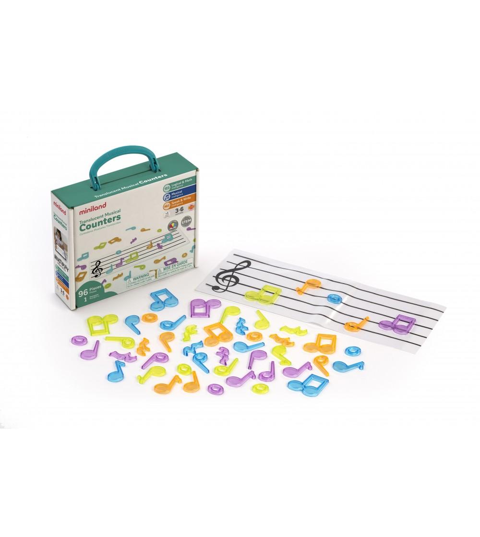 Set portativ si 96 note muzicale translucide - Instrumente muzicale