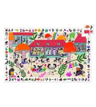 Puzzle observatie Djeco Scoala prietenilor arici - Puzzle-uri