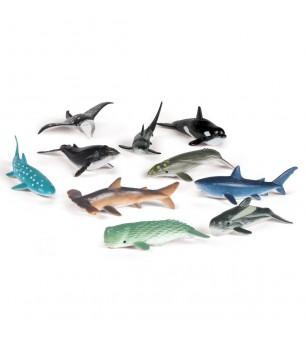 Set de sortat - Animalute din ocean - Figurine