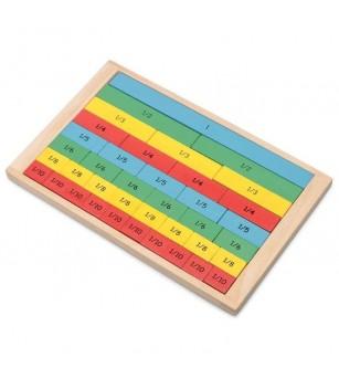 Set din lemn Tobar - fractii colorate - Jucării matematică
