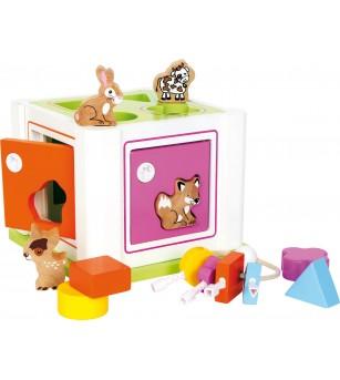 Cub de sortare cu chei, Legler Small Foot - Jucării de lemn si Montessori