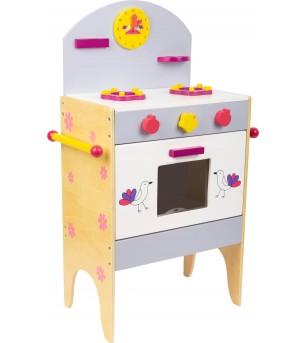 Bucatarie din lemn Legler Small Foot, cu accesorii - Bucătărie copii