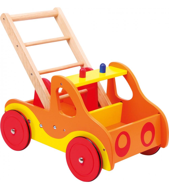 Premergator din lemn Legler Small Foot, Brigada de pompieri - Jucării de lemn si Montessori