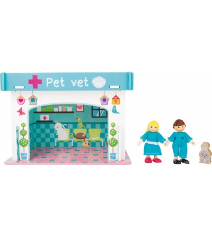 Set de joaca Legler Small Foot, La veterinar - Jucării de lemn si Montessori