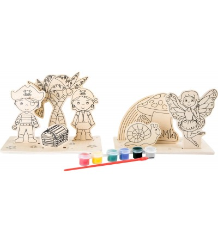 Set creativ din placaj de lemn Legler Small Foot, Pirati si zane - Desen și pictură