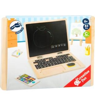 Laptop din lemn cu tabla magnetica, Legler Small Foot - Jucării de lemn si Montessori