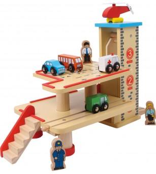 Garaj din lemn, Legler - Jucării de lemn si Montessori
