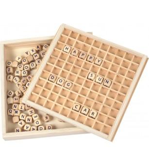 Joc educativdin lemn Legler Small Foot, Litere - Jucării limbaj