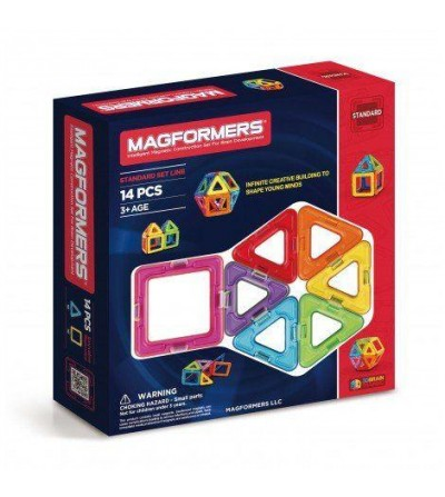 Set magnetic de construit- Magformers, 14 piese - Jucarii magnetice