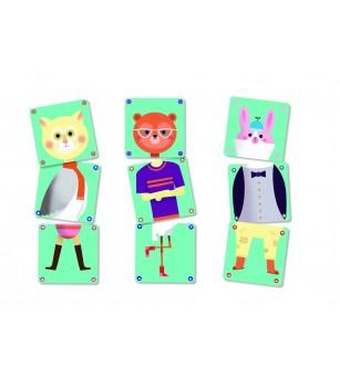 Joc de carti Djeco Animomix - Jocuri de observație și atenție