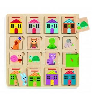 Joc de asociere Djeco, Cabanimo - Jocuri de memorie și asociere