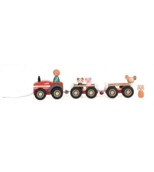 Tractor cu remorca si figurine, Egmont toys - Vehicule de jucărie