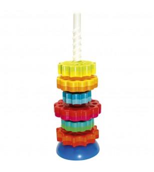 Piramida cu rotite Fat Brain Toys, SpinAgain - Jucării bebeluși